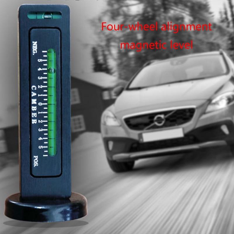 Car Four Wheel Aligner Positioning Adjustable Magnetic Level Gauge Camber Strut Alignment Tool for Truck RV Tire Repair