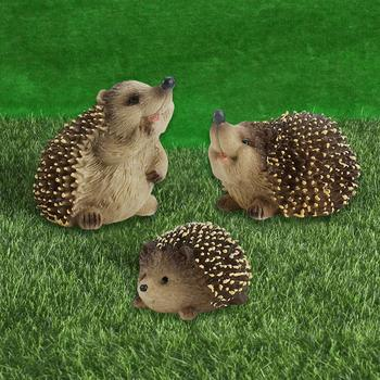 Doll Soft Craft Ornaments Plastic Simulation Hedgehog Early Education Model Kid Mini Animal Toys For Children Birthday Gift Toy image