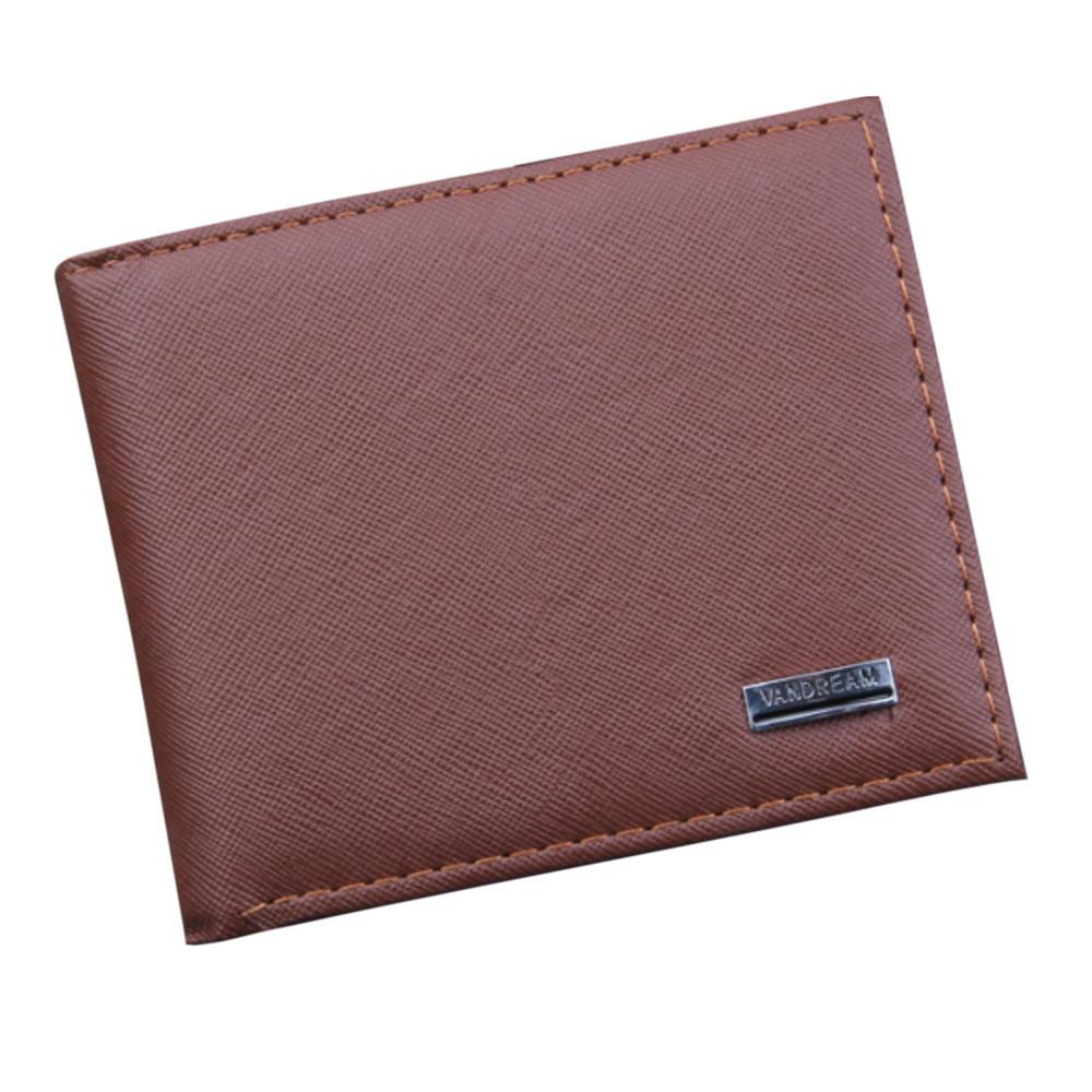 Men Bifold Business Leather Wallet  ID Credit Card Holder Purse men's wallet clutch portfel cuzdan billetera carteira  (1)