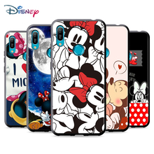 Black Soft LOVE Mickey And Minne For Huawei P Smart 2021 2020 Z S Mate 40 RS 30 20 20X 10 Pro Plus Lite 2019 Phone Case
