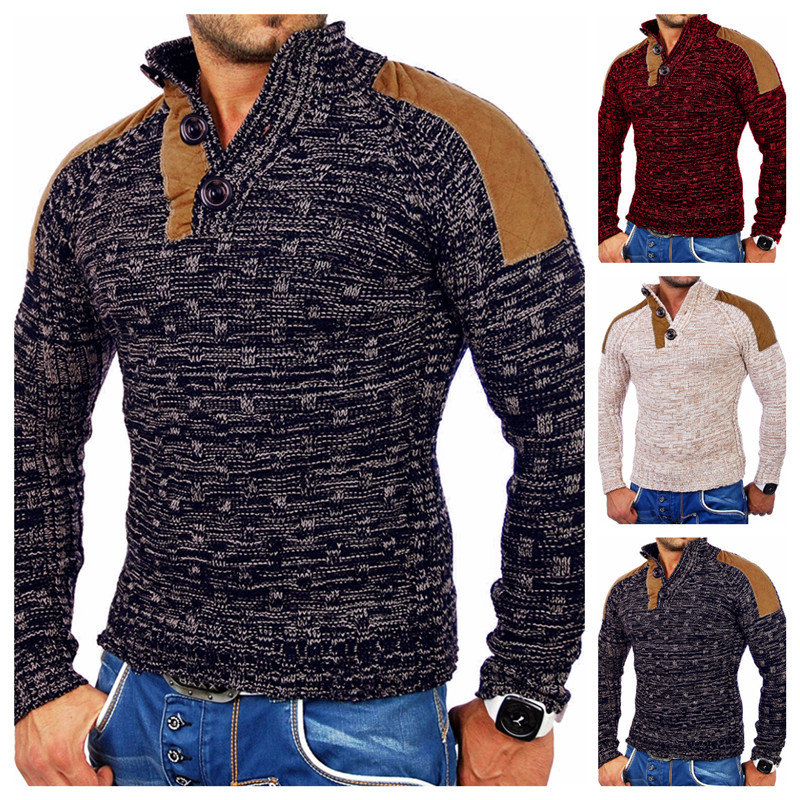 European And American Men's Sweaters, Collared Sweatermen, Men's Sweater Sweater Jackets, Tops Men, Sweatermen