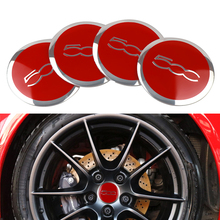 Car Styling 4Pcs Wheel Center Hub Cap Stickers 56MM 500 Logo Dust-Proof Decals For FIAT 124 125 695 OT2000