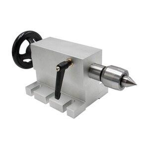 Image 4 - CNC 4th Aixs 3 4 לסת k12 צ אק 100mm Nema 34 מנוע צעד 4:1 / NEMA23 6:1 + זנב המניה עבור נתב