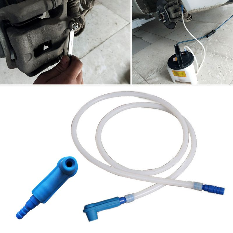 Brake Oil Changer Connector Emptying Tool with 1.2m Oil Pumping Pipe Brake Oil Replacement Tool for