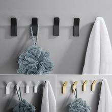 Self-adhesive Wall Hook Clothes Bag Hanger Hook for Bathroom Coat Towel Rustproof Keys Hanger Bath Accessories Kitchen Hardware