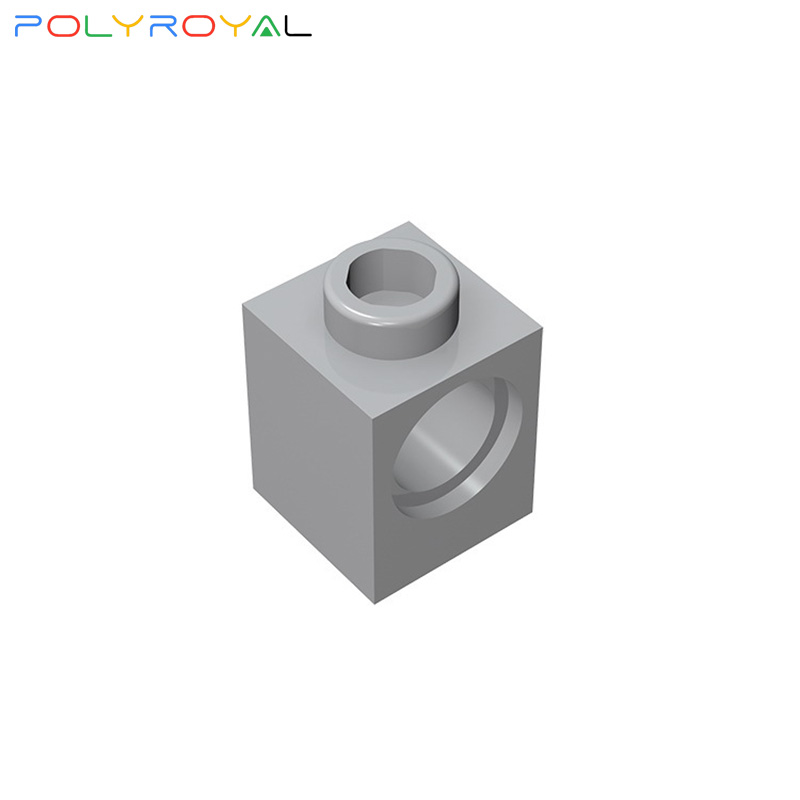 Строительные блоки аксессуары 1x1 перфорированный кирпич 1 отверстия 10 шт. совместимые детали для сборки, технические детали, игрушки Moc в под...