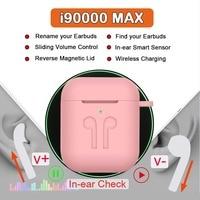 i90000 MAX TWS Support the latest ios13 system1:1 Smart Sensor Wireless 8D Super Bass Bluetooth 5.0 Earphone PK i19000 i10000