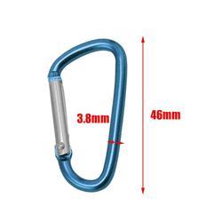 5Pcs//set Spring Lock Carabiner Snap Hook Hanger Locking Clip Keychain CampinP2a