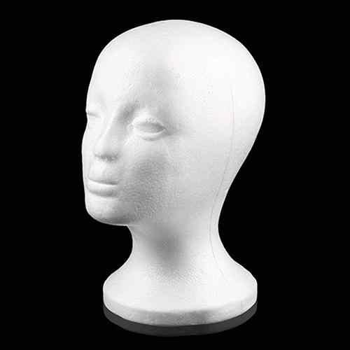 Prático espuma fêmea manequim cabeça perucas óculos boné display titular suporte modelo peruca exibição de cabelo suporte transporte da gota