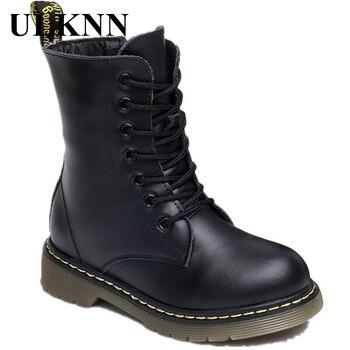 Botas de invierno para niños ULKNN, botas impermeables de piel sintética, botas de goma para bebés y niñas, botas de nieve Martin