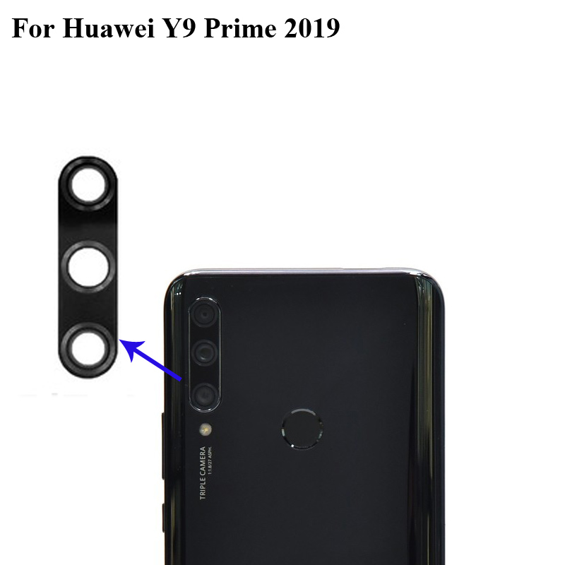 High Quality For Huawei Y9 Prime 2019 Back Rear Camera Glass Lens Test Good Replacement Parts For Huawei 9 Prime 2019