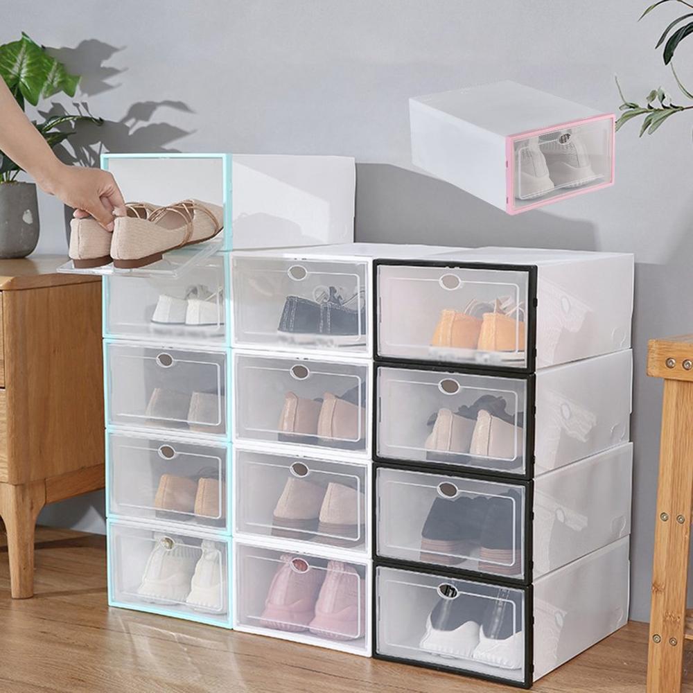 Simple Drawer Type Sliding Shoe Storage Box Thickened Dustproof ...