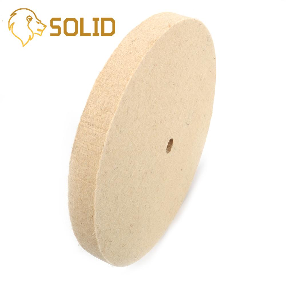 200-300mm Wool Felt Polishing Buffing Wheel Bore 16mm For Metal Marble Glass Ceramics  10MM Inner Diameter 25mm Thickness
