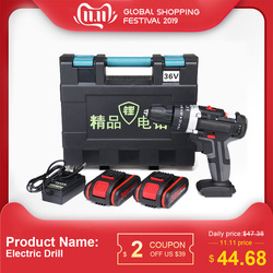 36V Professional Electric Impact cordless screwdriver 5200mAh 1/2 Li-ion Battery Rechargeable Home DIY Electric Power Tool