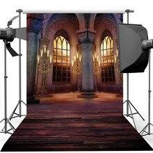 خلفية صور من الفينيل للقلعة والنوافذ ، خلفية صور ريترو ، قصر ، قصر ، زفاف ، عيد ميلاد ، فن ، استوديو صور ، صورة