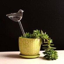 6 видов стеклянных растений, цветов, кормушка для воды, самополивающаяся птица, звезда, сердце, дизайн, растение, водонагреватель для домашнего сада
