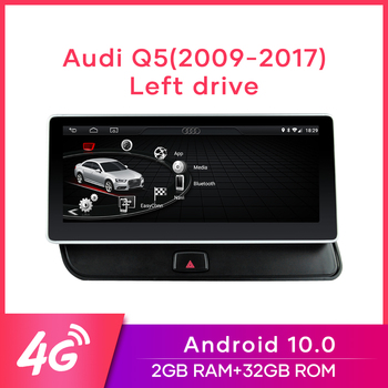 "MCWAUTO for Audi Q5 2009-2016 10.25"" Car Radio Android10.0 Multimedia GPS Navigation 4G WiFi BT Mirrorlink 2G RAM 32G ROM image"