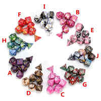 7Pcs Dice Set Polyhedral Mixed Color DnD Dice For RPG Dungeons and Dragons Role Playing Game Board Game Dice Set + Storage Bag
