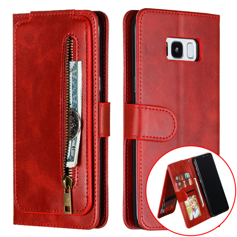 Luxury Leather Case for For Samsung Galaxy S8 S20 Ultra S10 Lite S9 Plus S10E S7 Edge Wallet Multi Card Holder Cover Coque Etui