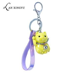 New acrylic Fortune Cat key bu