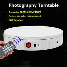 Ajustável 360 graus de rotação redonda plataforma giratória suporte de exibição fotografia acessórios estúdio tiro foto pano de fundo