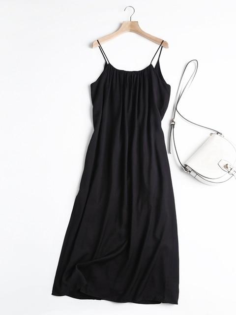 Tangada Women Oversized Long Dress High Quality Strap Sleeveless 2021 Fashion Lady Maxi Dresses Vestido 6D46 6
