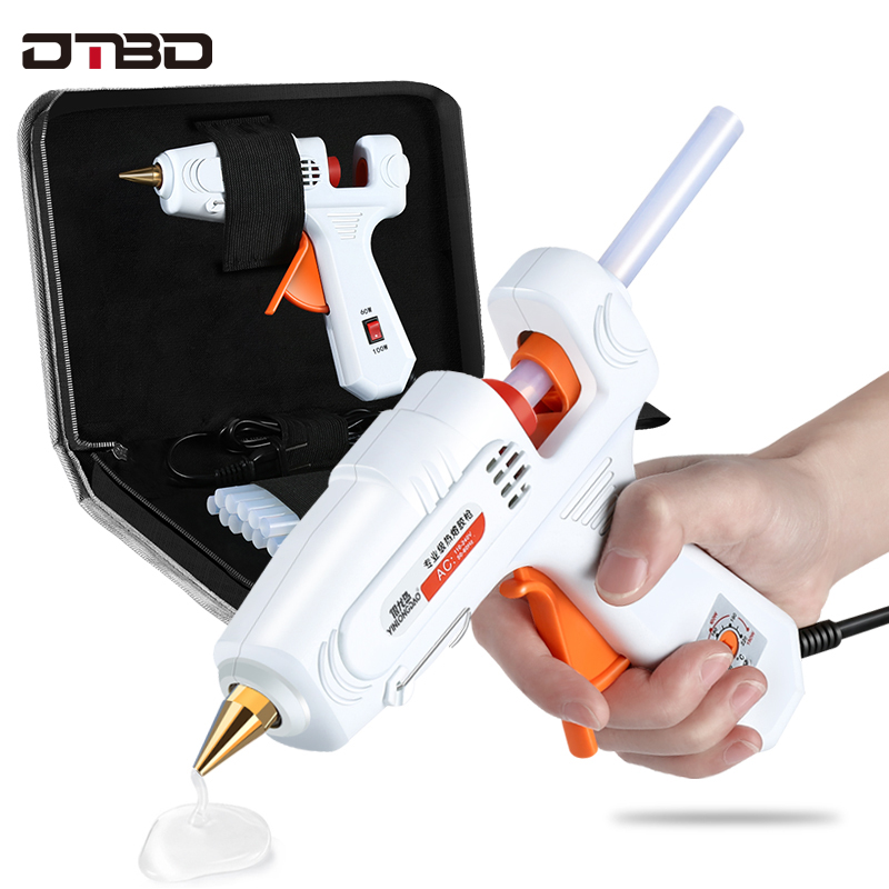 60W 100W 150W EU/ Plug Hot Melt Glue Gun 7mm 11mm Glue Stick Industrial Mini Guns Thermo Gluegun Heat Temperature Tool