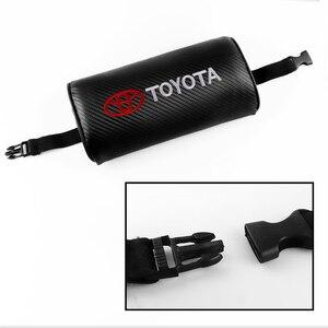 Автомобильный интерьер 1 шт. автомобильное сиденье Регулируемый подголовник из искусственной кожи для Toyota CHR Corolla Camry Auris Avensis T25 Yaris RAV4 аксесс...