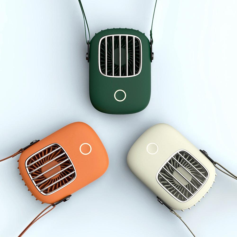 Hanging Waist Fan USB Charging Hanging Neck Fan Mini Handheld Multi-function Portable Desktop Small Cooling Fan