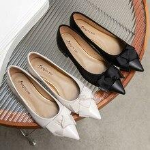 • Primavera nuove scarpe da donna in vera pelle a punta testa di manzo tendine suola tacco basso moda donna scarpe D23Yjy2113
