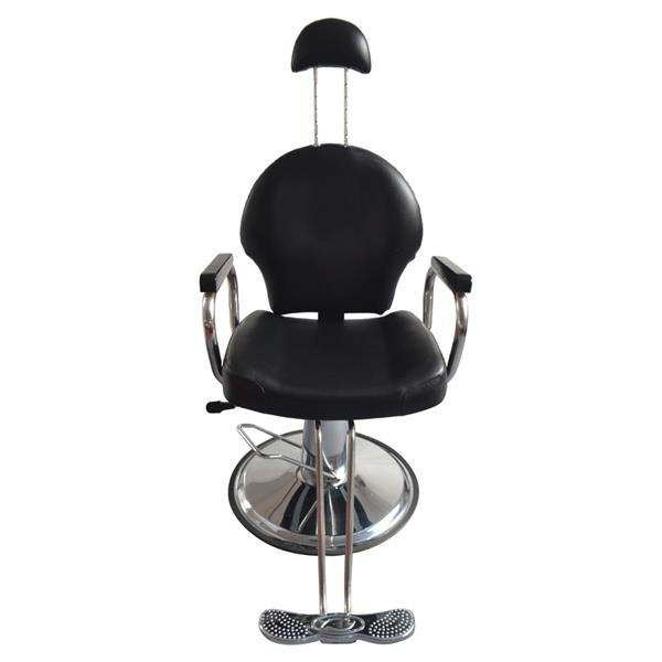 Hydraulic Barber Chair PU Leather Styling Chairs For Salon Modern Hairdresser Tattoo Shaving Lift Barber Chair With Headrest