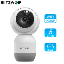 Blitzwolf BW SHC1 1080P WiFi Wall mounted PTZ 2 Way Audio IP Camera Smart Home Security Monitor support  SD Card Cloud Storage