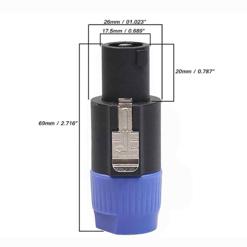 ALLOYSEED 10 sztuk/partia 4-biegunowe 4Pin NL4FC złącze Ohm wtyczka głośnik Audio kabel przejściówka adapter 4 Pin Speakon żeńskie gniazdo akcesoria