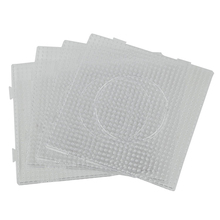 4Pcs/lot Hama Beads 5mm Square Large Pegboards Board For Hama Fuse Beads Square jigsaw puzzle Template For Educational Toys