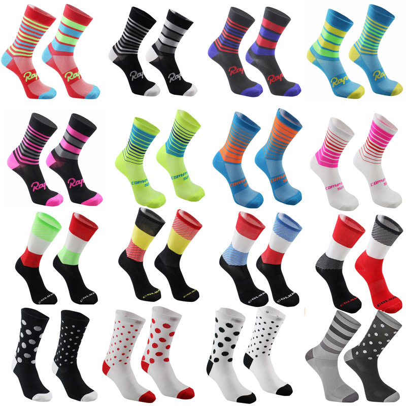 Новинка 2021, высококачественные профессиональные командные мужские и женские велосипедные носки, носки для горных велосипедов, дышащие нос...