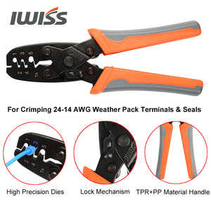 Image 5 - IWISS IWS 1424B Weather pack Crimper Tools for Crimping Delphi Packard Weather pack Terminals or Metri Pack Connectors