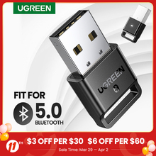 USB Bluetooth 4,0 адаптер UGREEN беспроводной ключ передатчик и приемник для ПК с Windows 10 8 7 XP Bluetooth стереогарнитура