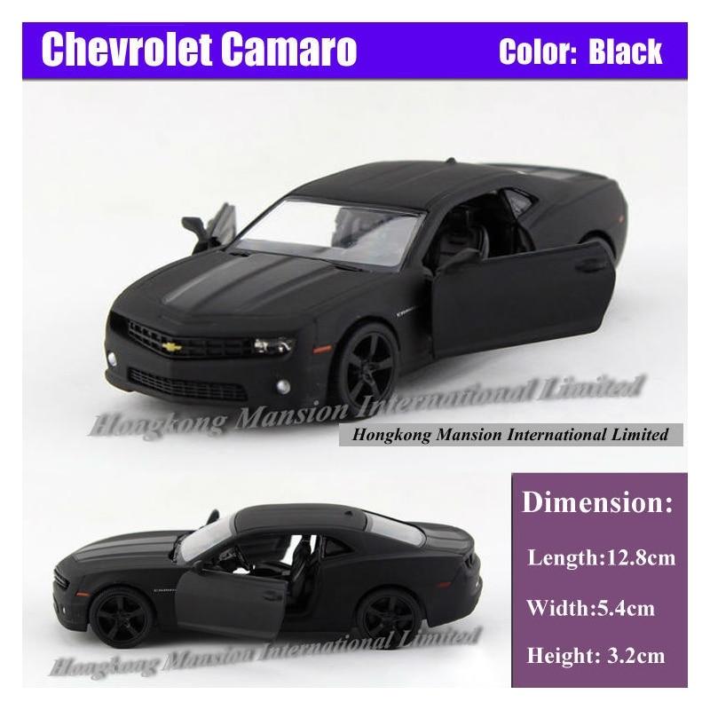 Licenciado diecast metal 1:36 escala coleção modelo de carro para thechevrolet camaro liga puxar para trás brinquedos veículo-preto fosco