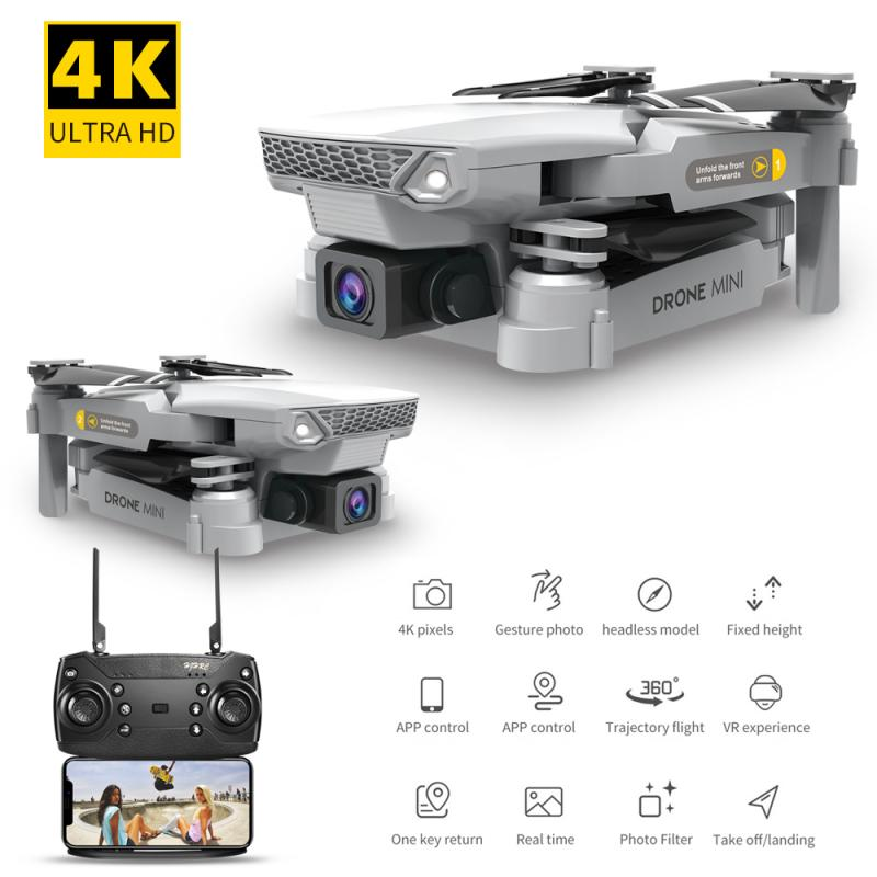 Drone 4K Dual Camera WIFI FPV Aerial Photography Helicopter Foldable Quadcopter Drone Toys With 720P/1080P/4K HD E88 Pro Upgrade