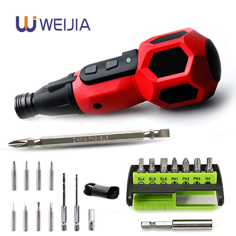 Home DIY Super Torque Electric Screwdriver Mini Drill 3.6v Lithium Battery Replace Traditional Screwdriver Led Light Power Tools-in Electric Screwdrivers from Tools on