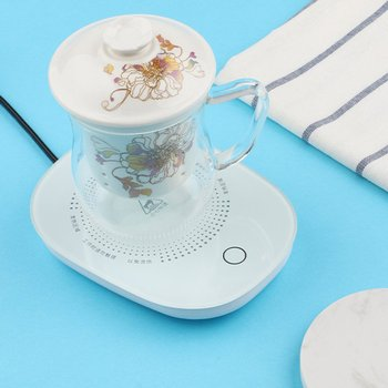 Electric Coffee Mug Warmer Plate Constant Temperature Heating Base Gravity Induction Switch Heating Coaster image
