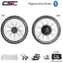 E אופני 48V 36V 500W 1500W חשמלי אופני המרת ערכת 20 24 26 27.5 28 29 אינץ 700C אחורי גלגל מנוע התחדשות אנטי תשלום