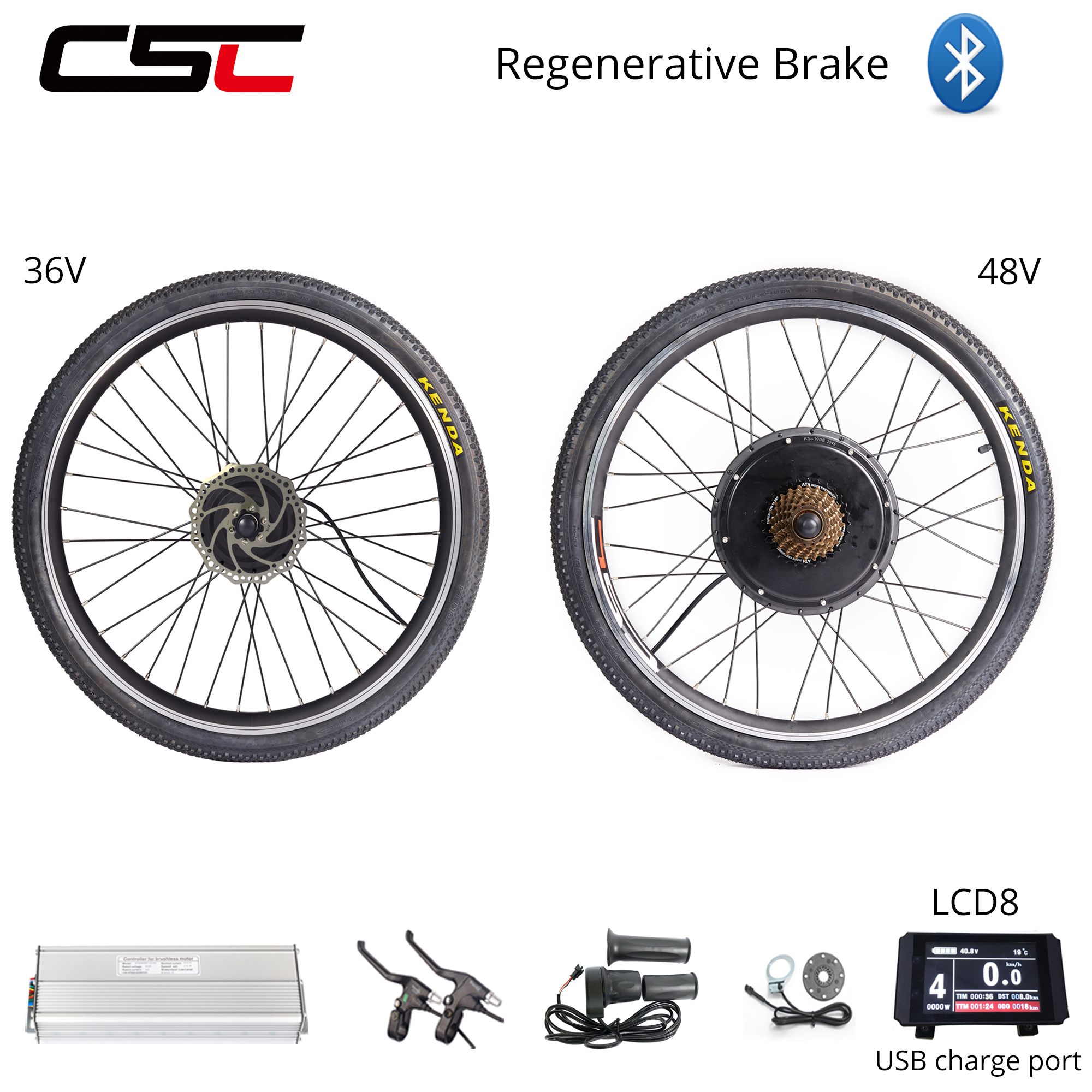 Ship From US electric bicycle Conversion Kit 48V 1000W ebike Wheel 29nch