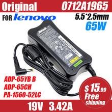 original 19V 3.42A 65W AC Adapter Laptop Charger For Lenovo Y410 c466 G455 410M U165 U350 C200 0712A1965 PA-1650-52LC ADP-65YB