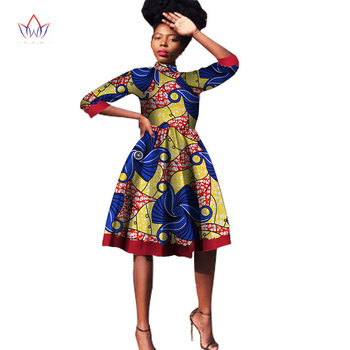 African Fashion 2020 Dashiki Bazin 6xl Africa Woman O-neck Clothing Natural African Plus Size Clothing For Women 5xl Wy1534