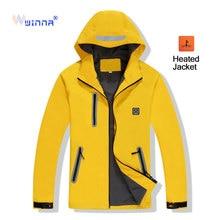 Outdoor Sport Electric Heating Jacket Men Women Winter Warm Clothing Windproof Waterproof Hiking Camping Heated Fleece Jacket цена в Москве и Питере