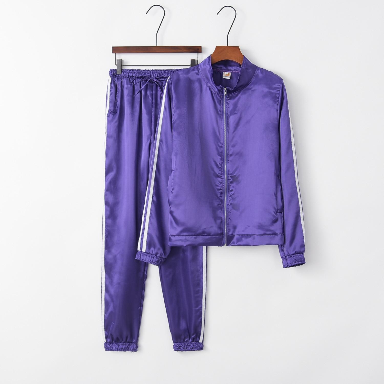 Purple Cute 2020 New Design Fashion Hot Sale Suit Set Women Tracksuit Two-piece Style Outfit Sweatshirt Sport Wear