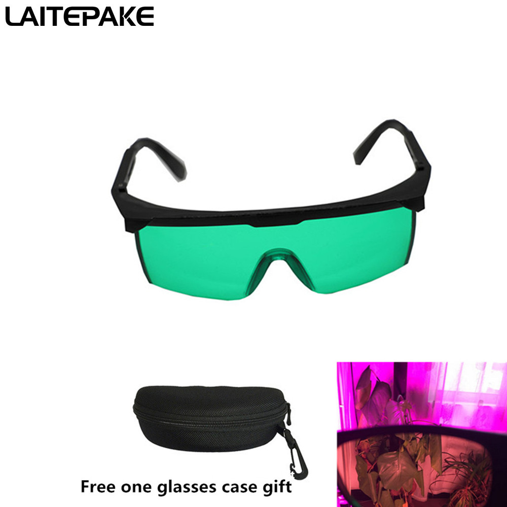 Led Light Grow Glasses UV Polarizing Goggles For Tent Greenhouse Hydroponics Plant Light Eye Protect Glasses Free Glasses Case