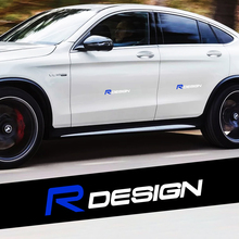 2PCS For Volvo Rdesign Badge Car Styling Body Decor Sticker Creative Auto Rear Trunk Window Side Fender Decal Accessories