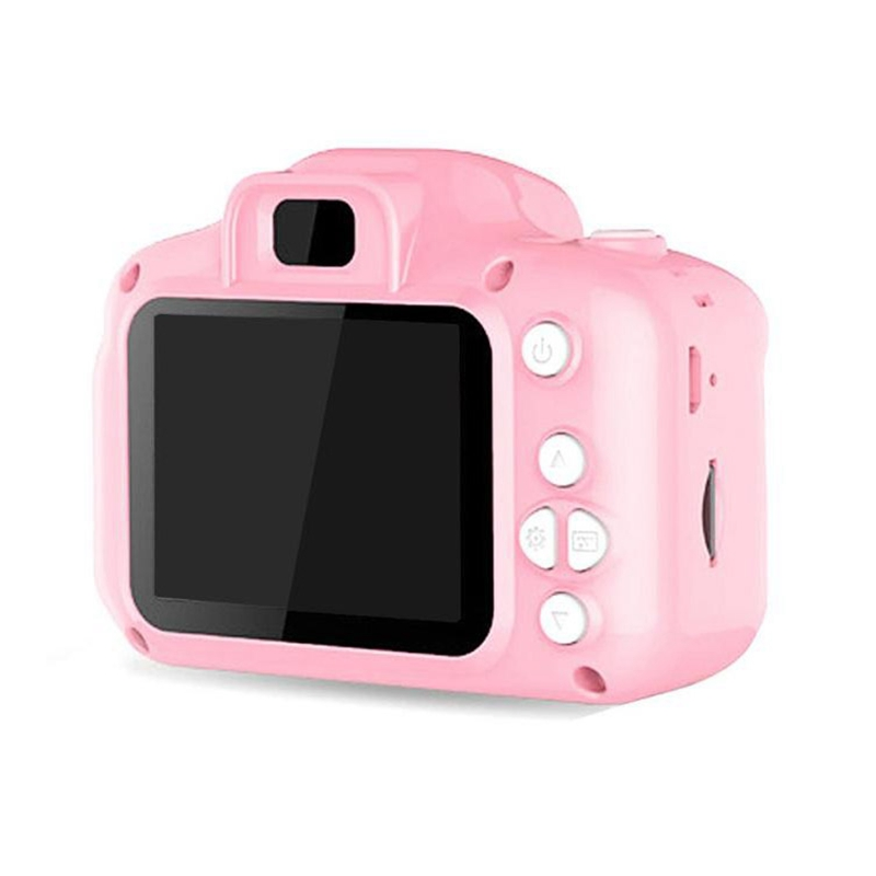 Hd Screen Rechargeable Digital Mini Camera Kids Cartoon Cute Camera Toys Outdoor Photography Props For Child Birthday Gift-Pink